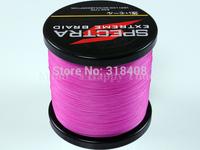 Free shipping! PE Dyneema Braided Fishing Line high quality 1000M Pink 40LB 0.32mm 4 strands spectra braided fishing line