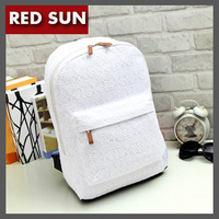 2014 New Korean Women backpacks Lace cute school backpacks Fresh preppy canvas printing student backpack  Free Shipping NB1662