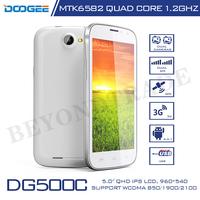 Original Doogee Brand DG500C MTK6582 Quad Core 1.2Ghz Processor 3G Smartphone 1GB RAM 4GB ROM 13MP Camera Android Cell Phones