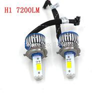 Free shipping Car led headlights H4 CREE 50W, H4 car led headlight 1800LM, Car H4 led headlight bulbs, h4 led head ligh