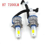 Free shipping Car led headlights H4 CREE 50W, H4 car led headlight 1800LM, Car H4 led headlight bulbs, h4 led head light
