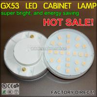 under cabinet lamp GX53 base bulb 25 LEDs 4w super energe saving ultra thin high bright ceiling light closet cupboard spot light