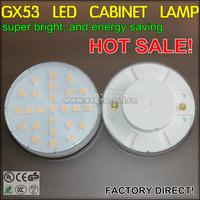 gx53 LED under cabinet lamp 4w energy saving light bulb 1pcs/lot free shipping super thin closet cupboard hot sale spot lights