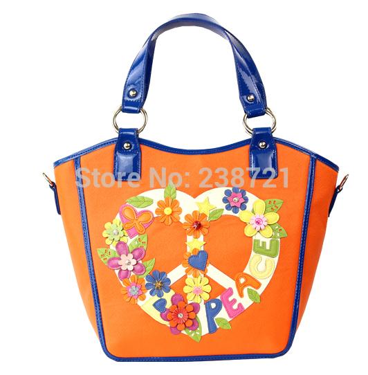 Borsa Tottyblu BRACCIALINI Italy Handicraft Women Shoulder Bag Handbag Tote Bag Peace Wreath(China (Mainland))