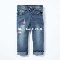 6344# Wholesale High quality  Brand 2014 New fashion Children's wash boys denim pants jeans kids Pants