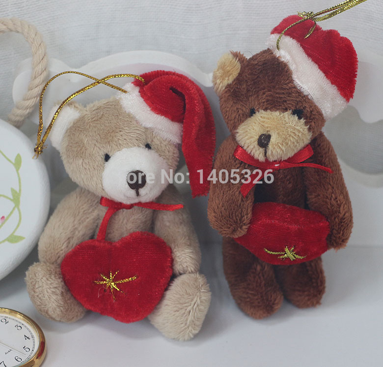 White Teddy Bears With Hearts And Roses Hold Heart Teddy Bear Doll