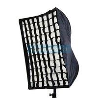 Umbrella Softbox Brolly Reflector with Grid Speedlite Studio 60x90cm PSCS14G free shipping