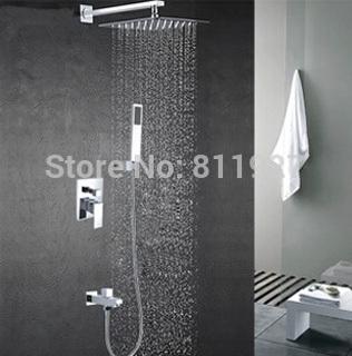 8 inch High quality brass Bath & Shower set Faucet mixer tap chuveiro with down water jets torneira cuba banheiro ducha(China (Mainland))
