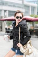 Winter Women Coat Hooded Overcoat Warm Thicken Down-Cotton Slim Parka 2014 New Brand Fashion Jacket