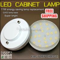 LED cabinet lamp GX53 base bulb 4w power 24SMD super thin energy saving lamp factory direct 5pcs/lot promotion