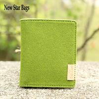 Korean style the ultra-thin mini small wallet Small fresh multi-card wallet Organic wool wallet.TS68A