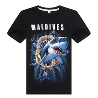Maldives 3D t-shirt Men Sharks Animals Tshirts Man Tees oversized t shirt Men's Clothing