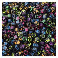600pcs/lot diy accessories new Trendy Family kids loom Bracelet Rubber Bands DIY Letter Beads Pendants