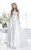 Luxury glamorous sweetheart neckline beaded wedding dresses