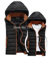 new winter jacket men Warm Man's outdoors down jacket Fashion Waistcoat , 2014 men vest slim casual winter coat MEN100