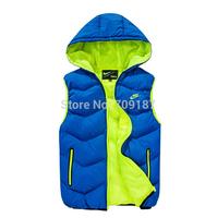 men Winter Warm Man's Down Cotton Vest Fashion Waistcoat 2013 detachable cap men slim casual cotton vest waistcoat MEN102