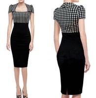 2014 New Fashion Summer Women's Elegant Office Dress High Quality Knee-Length Pretty Casual Dresses