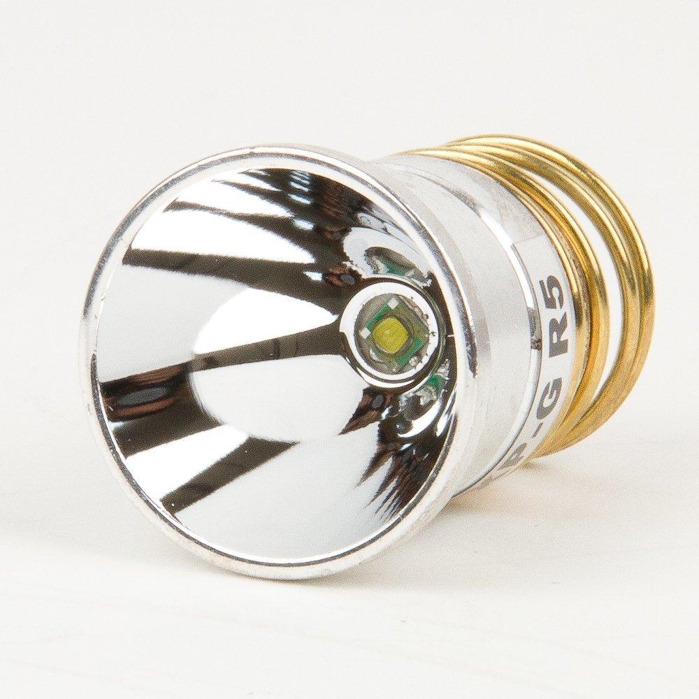 Flashlight Bulb LED Upgrade - 500 lumens - CREE R5 Single Mode Glossy Reflection - P60 design: Hugsby, Etc.(China (Mainland))