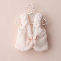 New 2014 Very Cute Fashion Little Girls Vest Faux Fur Girls Soft Vest Children Outerwear Warm Kids Fall Clothes