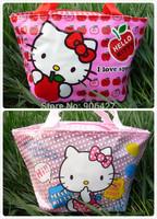 2PC cute Girls Handbag Hello kitty lunch bag  Handbag
