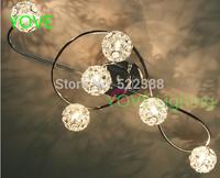 Ceiling Lights Abajur Lustres De Sala Modern Ceiling Light Luminaria Led Lamp Bedroom Lamp Small Crystal Aluminum Lights