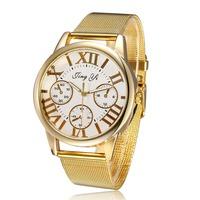 2014 Roman Number Women Dress Watch, Relogios Femininos Fashion, Quartz Ladies Gold Wristwatches