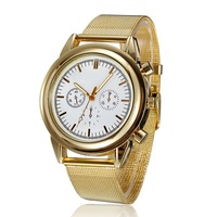 Female Casual Watches, Gold Stainless Quartz  Clock For Ladies,Watch Women Brand, Free Shipping