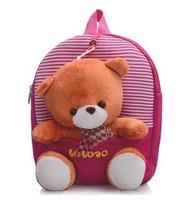 New 2014 Children Cartoon Bags Boys and Girls Cut Little Bear Backpacks Kids Anime Bag Canvas Backpack Free Shipping
