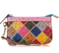 Women Bags Genuine Leather Women Clutch bag Patchwork Fashion Women Leather Handbags Women Leather Bags hand bag M111