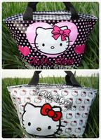 2PC Girls Handbag Hello kitty lunch bag