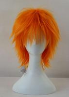 BLEACH /Kurosaki ichigo Orange Short Shaggy Layered Anime Cosplay Wig.Heat Resistance Hair
