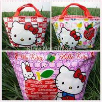 Gift Hello kitty Tote Lunch Box Girls Handbag 3PC