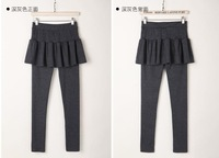 2014 new autumn and winter plus thick velvet backing divided skirts pleated trousers wholesale and retail S-3XL