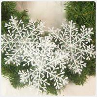 Free shipping 18pcs/lot diameter 9cm snow shape Christmas decorations Christmas ornaments.
