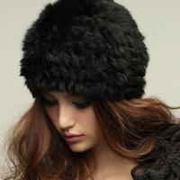 Rabbit fur hat fur rabbit fur hat fashion knitted hat female warm hat