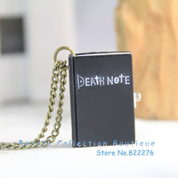 12pcs/lot Free shipping Anime Jewelry Death Note Pocket Watch Neckalce black  #AS024
