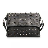 Free shipping Women's handbag one shoulder cross-body bag small chain rivet bag fashion women's small sachet 169
