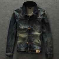 2014 Autumn short design denim clothes male top small yards slim vintage wearing white turn-down collar outerwear jacket