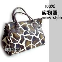 Free shipping 2014 new fashion elegant gift girlfriend gifts women's leopard print paragraph handbags female big shoulder bags