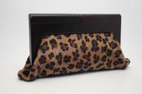 Free shipping new arrival fashion 2011 fashion leopard print wooden clip day clutch women's handbag nighty-night bag