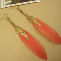 New Fashion Jewelry Women/Girls Trendy Eardrop Goose Feather Dangle Earrings