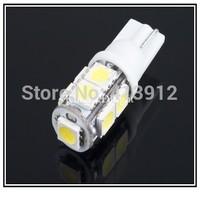 Hot Selling 1000pcs White Lamp T10 SMD 5050 9 Leds DC 12V Wedge Car LED Bulb Free Shipping