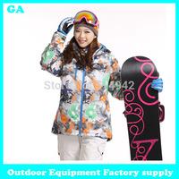 Dropshipping New 2014 winter Outdoor jackets jacket skiing jacket waterproof skiing suit sportswear snowboard jacket women 2014