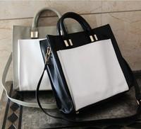 Free shipping 2014 new Korean fashion Supersnap brand women's casual brief color block formal briefcase female handbag big bags