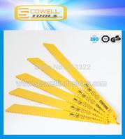 "Free Shipping:9"" inch  Bi-metal Reciprocating Saw Blades 6TPI Fast Cutting Wood and Plastic ,Saber Saw Blades Good Quality"