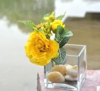 Free shipping 2014 new design Lu lotus Hydrangea artificial flower Bouquet wedding house decoration wholesale