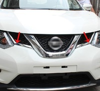 High quality ABS Chrome Front Grille Around Trim Racing Grills Trim For 2014 X-TRAIL