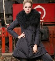 Europe station 2013 winter new women temperament Slim Down Girls Long Jacket collar Nagymaros NDZ122 Y9W