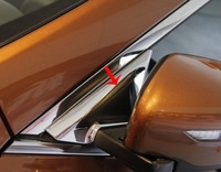 High quality ABS Chrome Front Window Cover For 2014 X-TRAIL
