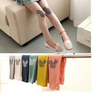 Free shipping Retail 2014 Autumn new girls multicolored cotton Leggings nubao elastic trousers a generation of fat